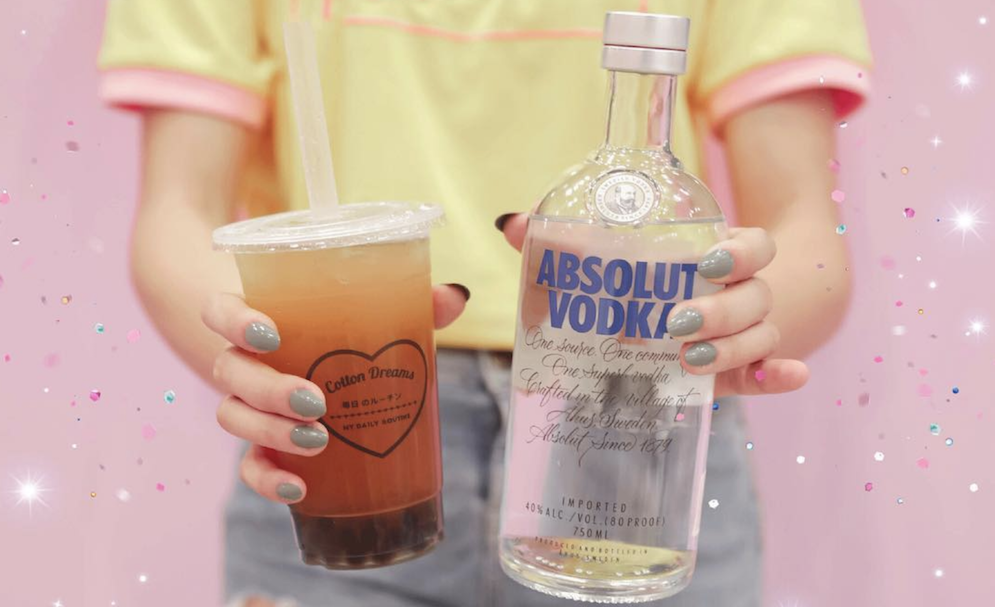 Alcoholic Bubbletea: Vodka Cotton Dreams Scape