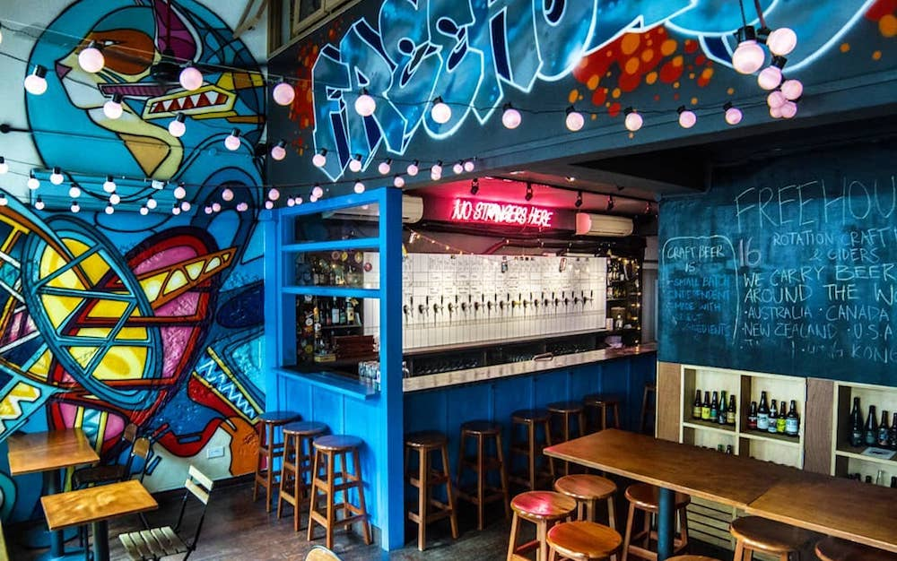 CBD happy hour bar eclectic freehouse downtown boon tat street